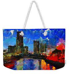 City Living - Tokyo - Skyline Weekender Tote Bag by Sir Josef Social Critic - ART