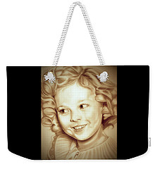 Classic Shirley Temple Weekender Tote Bag by Fred Larucci
