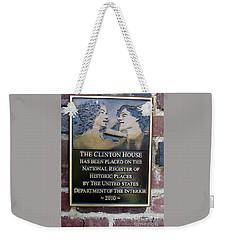 Clinton House Museum 2 Weekender Tote Bag by Randall Weidner