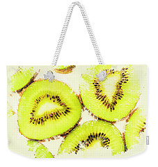 Close Up Of Kiwi Slices Weekender Tote Bag by Jorgo Photography - Wall Art Gallery