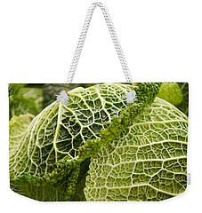 Close-up Of Savoy Cabbages Brassica Weekender Tote Bag by Panoramic Images