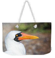 Closeup Of The Face Of A Nazca Booby Weekender Tote Bag by Jess Kraft