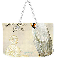 Coastal Waterways - Great Blue Heron Weekender Tote Bag by Audrey Jeanne Roberts