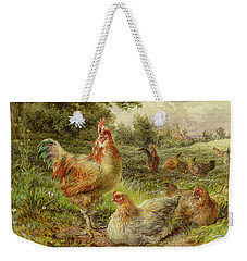 Cochin China Fowls Weekender Tote Bag by George Hickin