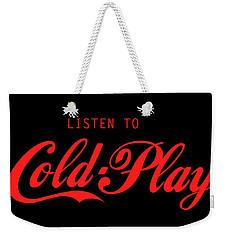 Coldplay Weekender Tote Bag by Poojit Rasalkar