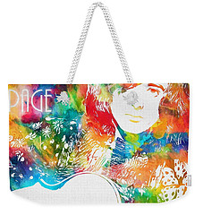 Colorful Jimmy Page Weekender Tote Bag by Dan Sproul