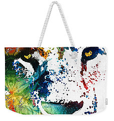 Colorful Lion Art By Sharon Cummings Weekender Tote Bag by Sharon Cummings