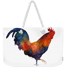 Colorful Rooster Weekender Tote Bag by Hailey E Herrera