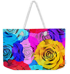 Colorful Roses Design Weekender Tote Bag by Setsiri Silapasuwanchai