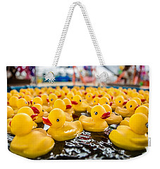County Fair Rubber Duckies Weekender Tote Bag by Todd Klassy