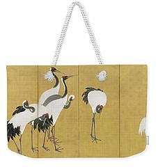 Cranes Weekender Tote Bag by Maruyama Okyo
