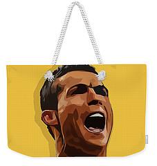 Cristiano Ronaldo Cr7 Weekender Tote Bag by Semih Yurdabak