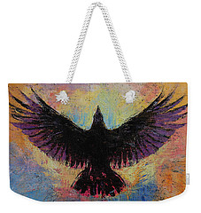 Crow Weekender Tote Bag by Michael Creese