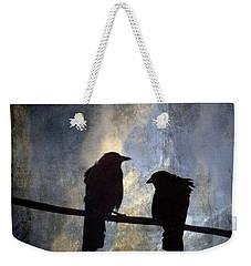 Crows And Sky Weekender Tote Bag by Carol Leigh