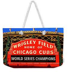 Cubs Win World Series Weekender Tote Bag by Andrew Soundarajan