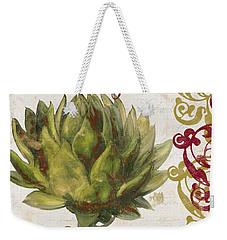 Cucina Italiana Artichoke Weekender Tote Bag by Mindy Sommers