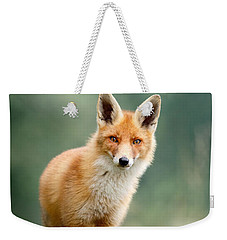 Curious Fox Weekender Tote Bag by Roeselien Raimond