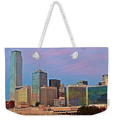 Dallas At Dusk Weekender Tote Bag by Frozen in Time Fine Art Photography