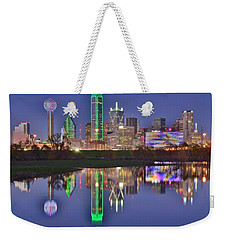 Dallas Blue Hour Weekender Tote Bag by Frozen in Time Fine Art Photography