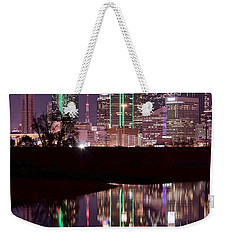 Dallas Lights Weekender Tote Bag by Frozen in Time Fine Art Photography