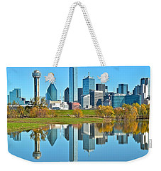 Dallas Mirror Image Weekender Tote Bag by Frozen in Time Fine Art Photography