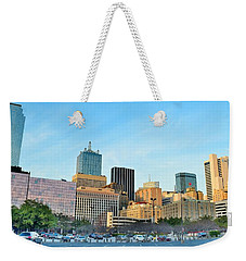 Dallas Skyline Pano Weekender Tote Bag by Frozen in Time Fine Art Photography