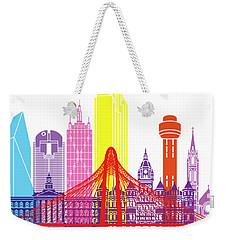 Dallas Skyline Pop Weekender Tote Bag by Pablo Romero