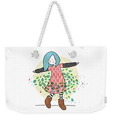 Dancing With Leaves Weekender Tote Bag by Carolina Parada