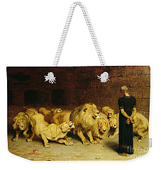 Daniel In The Lions Den Weekender Tote Bag by Briton Riviere