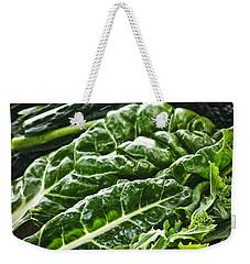 Dark Green Leafy Vegetables Weekender Tote Bag by Elena Elisseeva