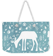Deer In The Woods Weekender Tote Bag by Nic Squirrell