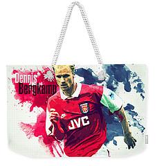 Dennis Bergkamp Weekender Tote Bag by Semih Yurdabak