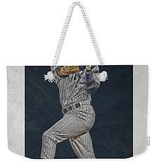 Derek Jeter New York Yankees Art 2 Weekender Tote Bag by Joe Hamilton