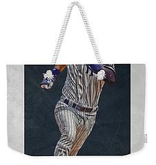 Derek Jeter New York Yankees Art 3 Weekender Tote Bag by Joe Hamilton