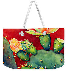 Desert Bloom Weekender Tote Bag by Hailey E Herrera