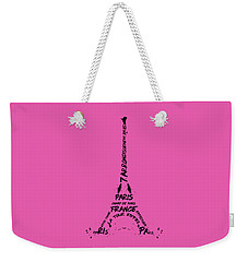 Digital-art Eiffel Tower Weekender Tote Bag by Melanie Viola