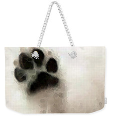 Dog Art - I Paw You Weekender Tote Bag by Sharon Cummings