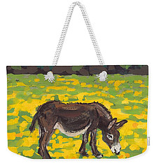 Donkey And Buttercup Field Weekender Tote Bag by Sarah Gillard