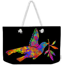 Dove With Olive Branch Weekender Tote Bag by Christina Rollo