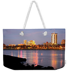 Downtown Tulsa Oklahoma - University Tower View Weekender Tote Bag by Gregory Ballos