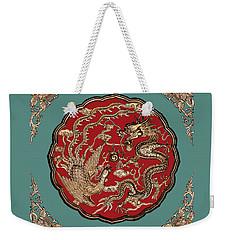 Dragon And Phoenix Weekender Tote Bag by Kristin Elmquist