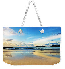 Dramatic Scene Of Sunset On The Beach Weekender Tote Bag by Setsiri Silapasuwanchai