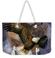 Dream Catcher - Spirit Eagle Weekender Tote Bag by Carol Cavalaris