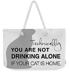 Drinking With Cats Weekender Tote Bag by Nancy Ingersoll