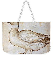 Duck Weekender Tote Bag by Leonardo Da Vinci