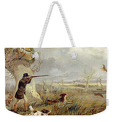 Duck Shooting  Weekender Tote Bag by Henry Thomas Alken