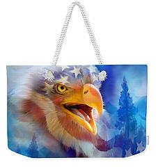 Eagle's Cry Weekender Tote Bag by Carol Cavalaris