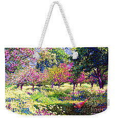 Echoes From Heaven, Spring Orchard Blossom And Pheasant Weekender Tote Bag by Jane Small