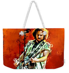 Eddie Vedder Painting Weekender Tote Bag by Scott Wallace