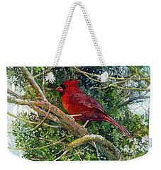 Elegance In Red Weekender Tote Bag by Hailey E Herrera
